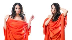 Das Konzept der jungen Frau in Mode Lizenzfreies Stockbild