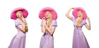 Das Konzept der jungen Frau in Mode Stockfotos