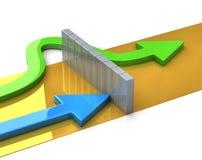 Das Konzept der Konkurrenz stock abbildung