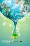 das Konzept der sauberen Energie Stockfotografie