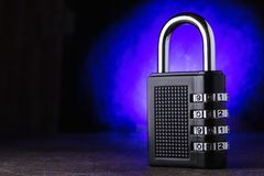Das Konzept der Schließung, Schutz Technologie blockchain, Verschlüsselung des Internetverkehrs Kennwortschutz Hintergrund für ei Lizenzfreies Stockfoto
