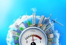 Das Konzept der Umweltverschmutzung stock abbildung
