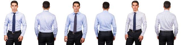 Das Konzept des jungen Mannes in Mode lokalisiert auf Weiß Lizenzfreies Stockbild