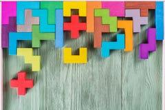 Das Konzept des logischen Denkens Geometrische Formen Stockfotos