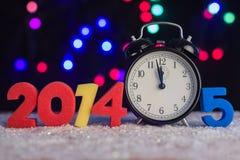 Das Konzept des neuen Jahres uhr Stockfotografie