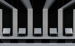 Das Konzept eines Innenraums einer Halle Stockfoto