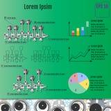 Das Konzept infographic basiert auf der Kurbelwelle reparieren Sie Infograp Lizenzfreie Stockfotografie