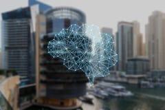 Das Konzept von autonomen Sachen lizenzfreie abbildung