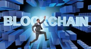 Das Konzept von blockchain im modernen Geschäft Lizenzfreie Stockfotos