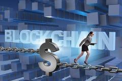 Das Konzept von blockchain im modernen Geschäft Lizenzfreie Stockfotografie