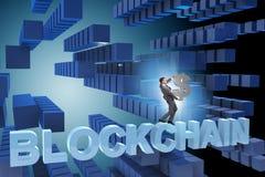 Das Konzept von blockchain im modernen Geschäft Lizenzfreies Stockbild