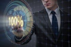 Das Konzept von hundert Prozent 100 Lizenzfreie Stockfotos