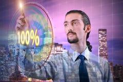 Das Konzept von hundert Prozent 100 Lizenzfreies Stockfoto