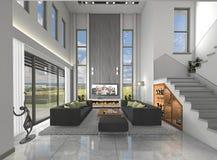 Das Konzept von Innen-himmeln in der Architektur Lizenzfreie Stockbilder