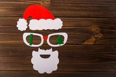Das Konzert des neuen Jahres von der Kappe, von den Gläsern und vom Bart Stockfoto