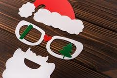 Das Konzert des neuen Jahres von der Kappe, von den Gläsern und vom Bart Stockbild