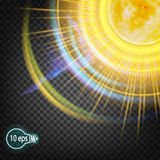 Das kosmische Glühen des Sonnensternes Im entfernten Kosmos Stockfotos