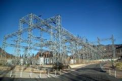 Das Kraftwerk in Hooverdamm in USA lizenzfreies stockfoto