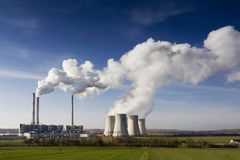 Das Kraftwerk Pocerady lizenzfreie stockbilder