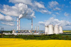 Das Kraftwerk Pocerady stockbilder