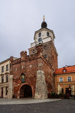 Das Krakau-Tor in Lublin, Polen Stockbilder