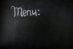 Das Kreidebrettmenü für eine Stange oder ein Café Die Zeichnung auf einer Tafel Lizenzfreie Stockbilder