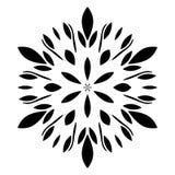 Das Kreismuster wird benutzt, um Teller, Kleidung und andere Zwecke zu entwerfen Geometrische Ikone Sieben gezeigter Stern auf we lizenzfreie abbildung
