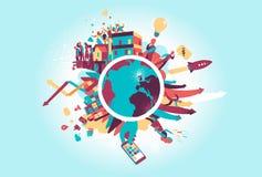 Das Kreisprogramm der zeitgenössischen Welt lizenzfreie abbildung