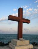Das Kreuz auf der Küste. Lizenzfreie Stockfotos
