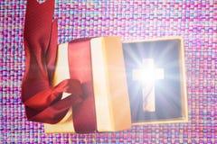 Das Kreuz ist ein wunderbares Geschenk stockfotos