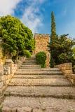 Das Kreuzfahrer-Schloss Byblos Jbeil der Libanon Stockfoto