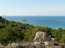 Das kroatische adriatische Meer Stockfotos