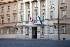 Das kroatische Parlament in Zagreb, Kroatien Lizenzfreies Stockbild