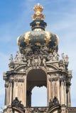 Das Kronentor des Palastes Zwinger in Dresden stockbild