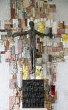 Das Kruzifix in der Gemeindekirche von St Patrick in Eggenrot, Deutschland lizenzfreie stockfotografie