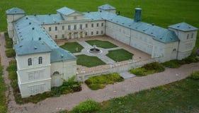 Das Kynžvart-Schloss - Minimodell lizenzfreies stockbild