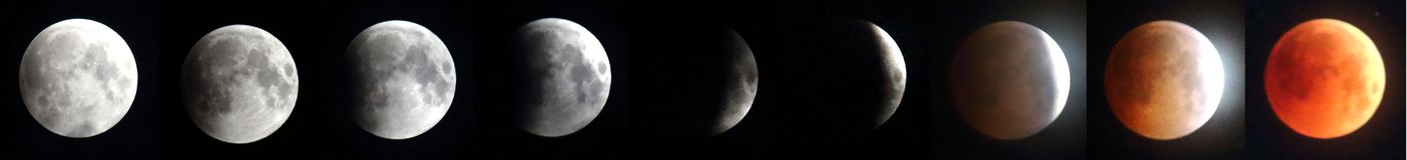 Das längste Mond-Eclipes - roter Mond 2018 lizenzfreie stockfotografie