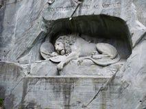 Das Löwemonument in der Luzerne Lizenzfreie Stockbilder