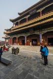 Das Lamatempel Peking-Porzellan Stockfotografie