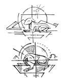 Das Lamm von Gott-Jesus Christ-Illustration Lizenzfreie Stockfotos