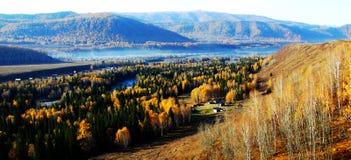 Das Land von hemu tuwa, Xinjiang, Porzellan zhaofuxin stockbild