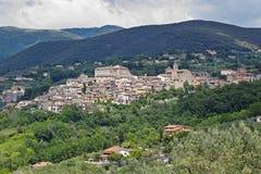 Das Land von Poggio Mirteto, Sabina, Italien Lizenzfreies Stockfoto