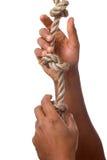 Das Lassen gehen von einem Seil Stockfotografie