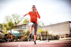 Das Laufen ist gesund Junge Frau 15 stockfoto