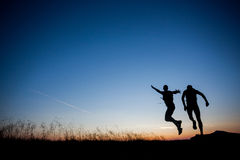 Das Laufen ist Spaß Lizenzfreie Stockfotos