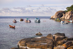 Das Leben der Fischer bei Koh Tao-Thaialnd Stockfotos