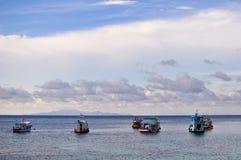 Das Leben der Fischer bei Koh Tao-Thaialnd Stockfotografie