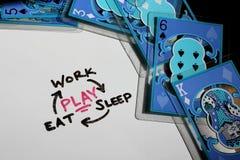 Das Leben ist über das Spielen des Konzeptes Lizenzfreie Stockbilder