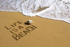 Das Leben ist ein Strand Lizenzfreies Stockbild