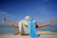 Das Leben ist ein Strand stockbild